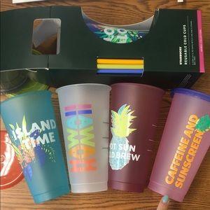 NEW Starbucks HAWAII reusable cups! Set of 5!